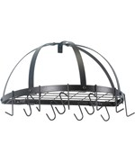 Old Dutch Wall Pot Rack - Half Round