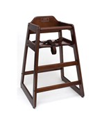Wooden High Chair - Walnut