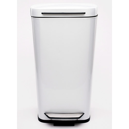 oxo steel kitchen trash can white image. Interior Design Ideas. Home Design Ideas
