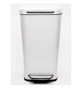 OXO Steel Kitchen Trash Can - White Image