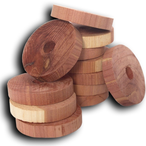 Cedar Hanger Rings - Set of 6