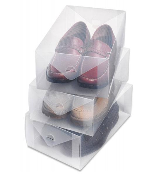 Mens Shoe Boxes Clear