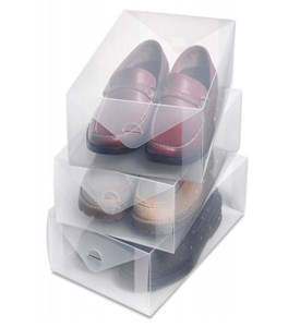 Clear Shoe Storage Box - Mens (Set of 3) Image
