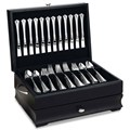 Handmade Wooden Flatware Chest - Black