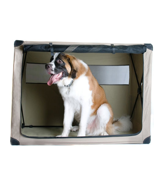 Portable Dog Kennels : Fully collapsible portable dog kennel in pet carriers and