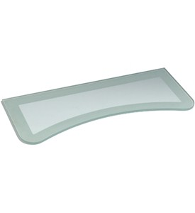 Two-Tone Floating Glass Wall Shelf Image