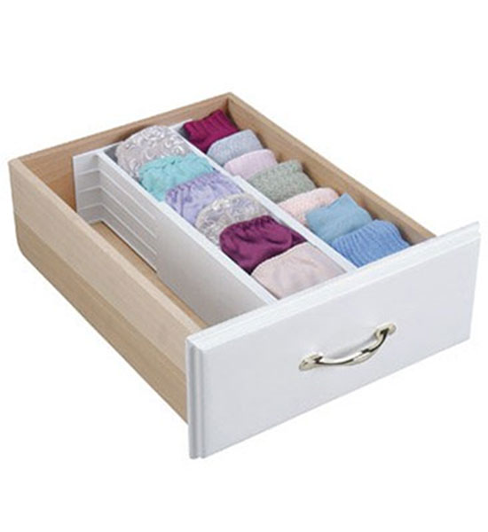 4 Inch Spring Loaded Drawer Dividers