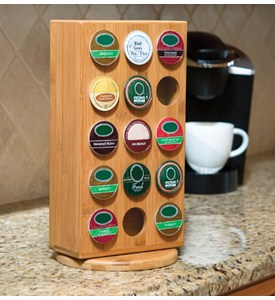 Bamboo K-Cup Storage Rack - 30 K-Cups Image