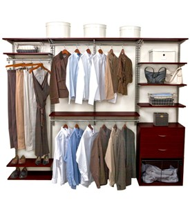 freedomRail Closet System - Chocolate Pear Image