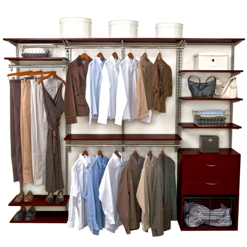 FreedomRail Closet System   Chocolate Pear ...