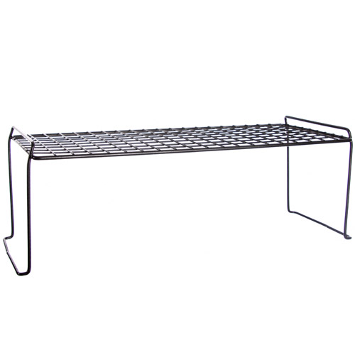 Stacking Wire Shelf Black In Cabinet Shelves