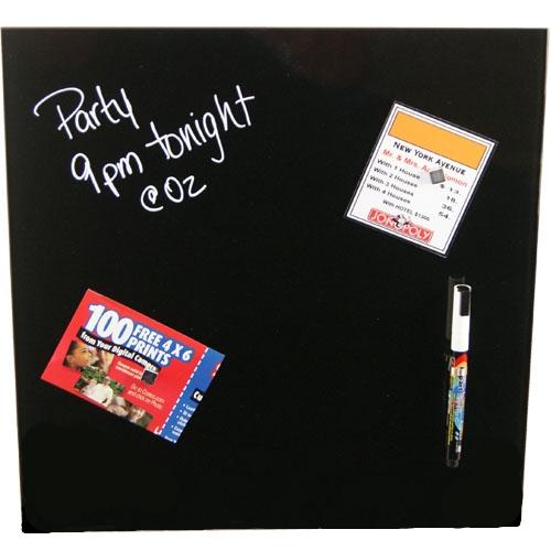 erasable glass memo board black in memo and bulletin boards. Black Bedroom Furniture Sets. Home Design Ideas