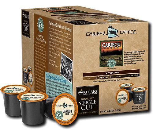 Caribou Coffee Caribou Blend K-Cups (Set of 18) in Keurig ...