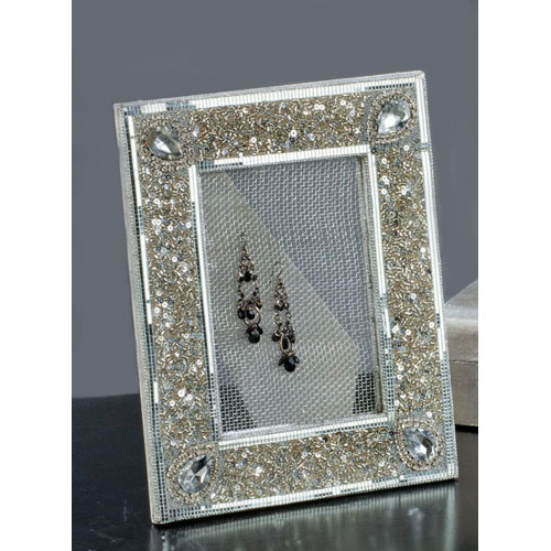 Mesh Earring Display Stand - Silver Image