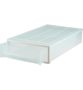 Plastic Under Bed Storage Drawer - Clear Image