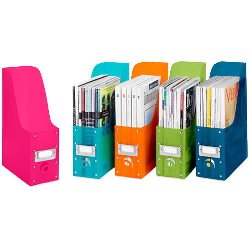 Colorful Plastic Magazine Organizers Set Of 5 In