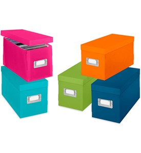 Colorful Plastic CD Boxes (Set of 5) Image