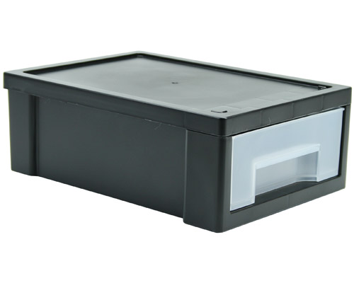 Small Stacking Storage Drawer - Black Image