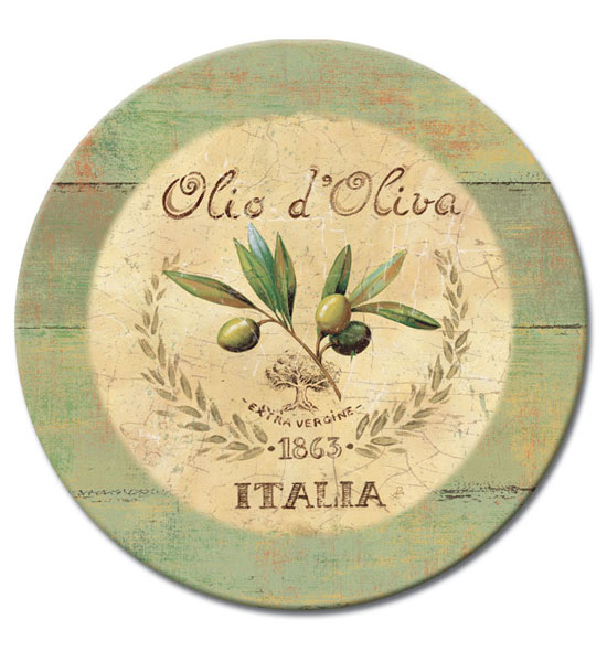 13 Inch Tempered Glass Lazy Susan - Italia Image