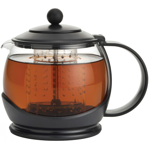 Glass Teapot with Infuser - Black Image