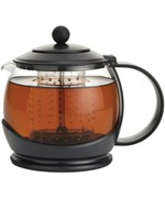 Glass Teapot with Infuser - Black