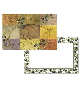CounterArt Reversible Placemat - Tuscan Olives Image