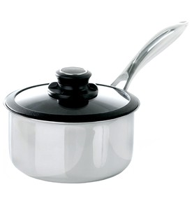 1.5 Quart Stainless Steel Saucepan - Black Cube Image