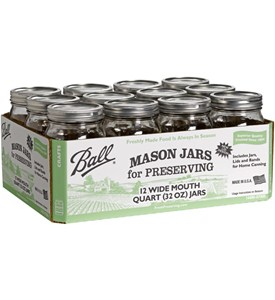 Ball Canning Jars - Quart Wide Mouth (Set of 12) Image