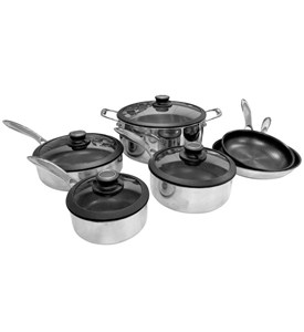 10 Piece Non-Stick Cookware - Black Cube Image