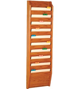10-Pocket Wall Chart Holder Image