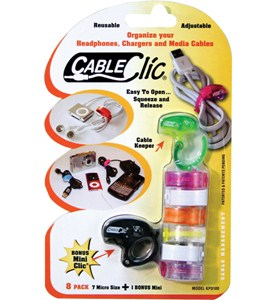 Micro Size Adjustable Cables Clips (Set of 8) Image