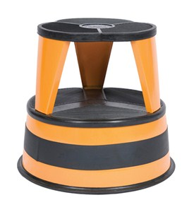 Cramer Kik-Step Rolling Step Stool - Orange Image