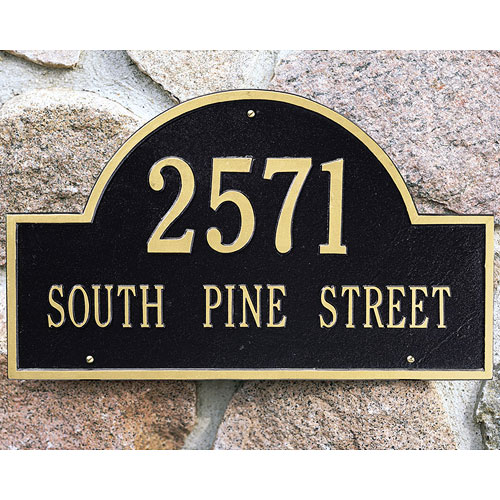 Arch Wall Address Plaque - Two-Line Image