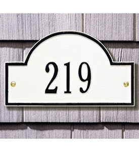 Arch Wall Address Plaque - Petite One-Line Image