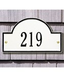 Arch Wall Address Plaque - Petite One-Line