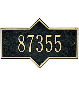 Hampton Wall Address Plaque - One-Line Image