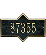 Hampton Wall Address Plaque - One-Line