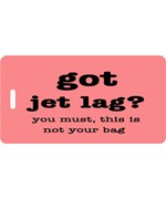 Jet Lag Personalized Luggage Tag – Coral