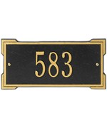 Roanoke Entryway Home Address Plaque