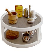 Two-Tier 10 Inch Lazy Susan Turntable