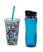 BPA-Free Eco-Friendly Travel Tumbler Set of 2