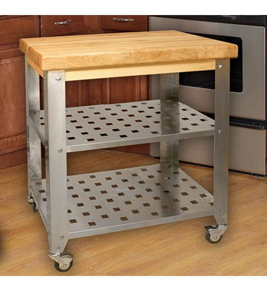 Stainless Steel Kitchen Island Cart in Kitchen Island Carts
