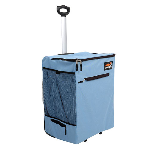 Rolling Laundry Hamper Sky Blue In Clothes Hampers