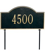 Two-Sided Arch Lawn Address Plaque - One-Line