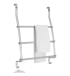 InterDesign Chrome Over the Door Towel Rack Image