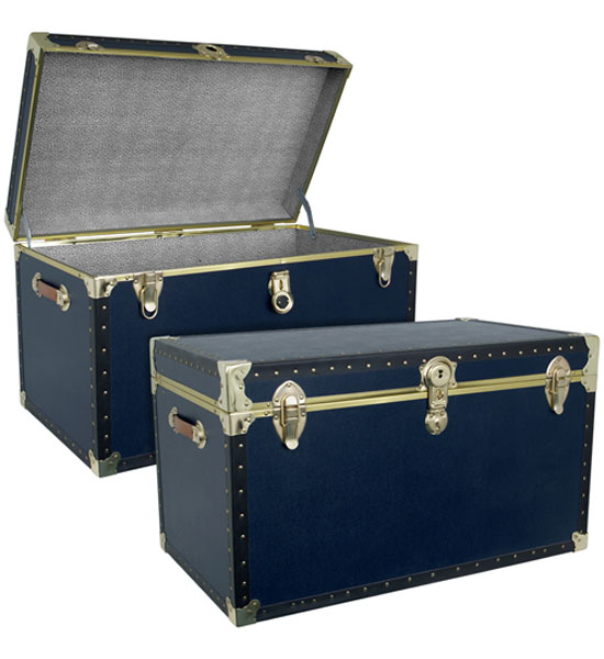 Beautiful Military Blue Storage Trunk Image