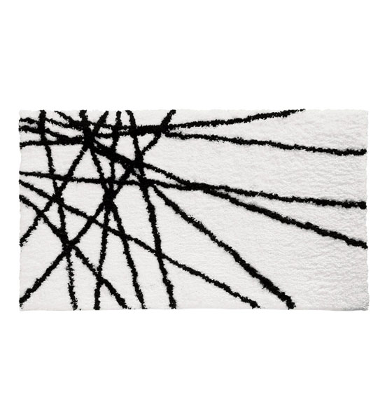Black And White In Bathroom Rugs
