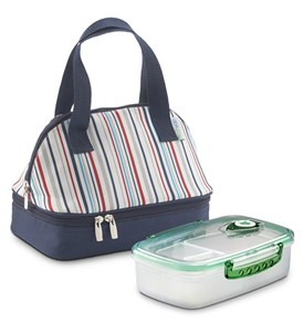 FreshVac Lunch Bag Plus - Blue Stripe Image