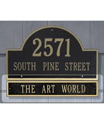 Arch Home Address Plaque Extension