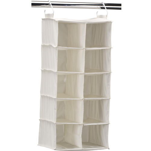 Good 10 Pocket Hanging Closet Shoe Organizer Image